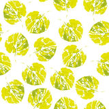 Cute pattern of beautiful prints of leaves. Vector Royalty Free Stock Images
