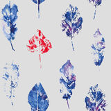 Cute pattern of beautiful prints of leaves. Vector Royalty Free Stock Photography