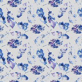 Cute pattern of beautiful prints of leaves Royalty Free Stock Image
