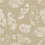 Cute pattern of beautiful prints of leaves. Vector illustration Stock Image