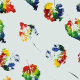 Cute pattern of beautiful prints of leaves Stock Photos