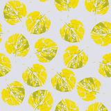 Cute pattern of beautiful prints of leaves. Vector illustration Stock Images
