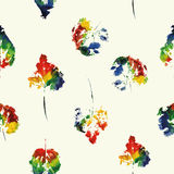 Cute pattern of beautiful prints of leaves. Vector illustration Royalty Free Stock Photography
