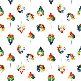 Cute pattern of beautiful prints of leaves. Vector illustration Royalty Free Stock Photos