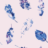 Cute pattern of beautiful prints of leaves. Vector illustration Royalty Free Stock Images