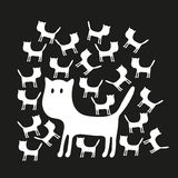 Cute pattern with cats Royalty Free Stock Photo