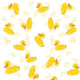 Duck pattern coloring and white background. Cute  pattern duck  illustration drawing and white background Stock Photography