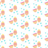 Cute pattern  with Easter decoration eggs Stock Image