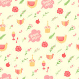 Cute pattern for Easter with the inscription Stock Photo