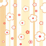 Cute pattern with flowers. Objects grouped separately in additional vector (EPS) format Royalty Free Stock Image