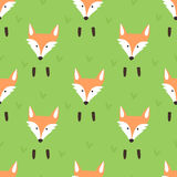Cute pattern with foxes Royalty Free Stock Images