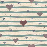 Cute Pattern with hearts Royalty Free Stock Image
