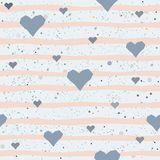 Cute Pattern with hearts. And dotted background with scattered dots. Vector Illustration Stock Images