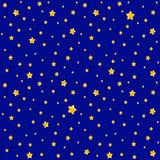 Cute pattern for kids - bright stars on clear sky Royalty Free Stock Images