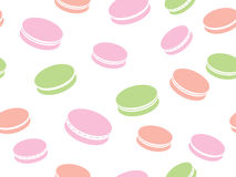 Cute pattern with macaroon background Stock Images