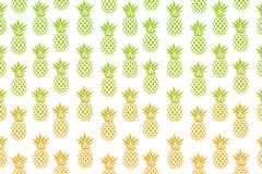 Cute pattern with pineapples on a white background. Vector illustration. Abstract Exotic summer print. Colorful gradient fruit pat. Tern. Tropical elements vector illustration