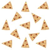 Cute pattern with pizza. Concept of obesity. Stock Image
