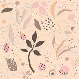 Cute Pattern with plants Royalty Free Stock Photo