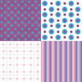 Cute Pattern Purple, Pink, Blue Stock Image