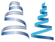 Cute pattern ribbon. Vector graphics blue ribbon pattern in a world very bright girly stock illustration