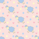 Cute pattern with  sheep Royalty Free Stock Photography