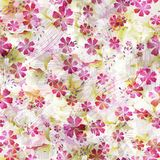 Cute pattern with small flowers. Elegant template for fashion prints. Seamless pattern for use in design. Little flowers are scattered in an endless pattern vector illustration