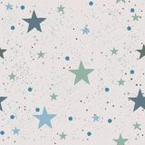 Cute Pattern with stars Stock Images