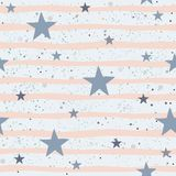 Cute Pattern with stars Stock Image