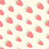 Cute pattern with strawberries vector illustration