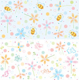 Cute patterns for your design. Royalty Free Stock Images