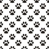 Cute paw seamless pattern, cat feet steps, pet design. Texture for wallpapers, fabric, wrap, web page backgrounds, vector. Illustration design royalty free illustration