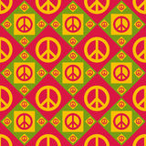 Cute peace pattern Stock Image