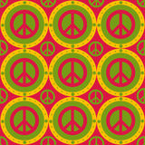 Cute peace pattern Stock Photos
