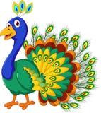 Cute Peacock cartoon posing Royalty Free Stock Photo