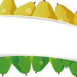 Cute pear background banner Stock Images
