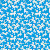 Cute pegasus, unicorn and the horse. Pattern for seamless background cute pegasus, unicorn and the horse Royalty Free Stock Images