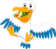 Cute pelican cartoon Stock Photo