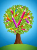 Cute pencil tree design Stock Photography