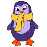 Cute penguin. Handdrawn cute little violet penguin Stock Photography