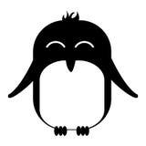 Cute penguin asleep kawaii character. Vector illustration design Stock Images