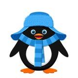 Cute penguin in blue hat Stock Image
