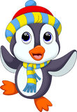 Cute penguin cartoon Stock Photography