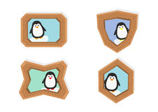 Cute penguin frames Stock Photography