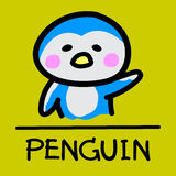 Cute penguin hand-drawn style, vector illustration. Cute penguin hand-drawn style,drawing,hand drawn vector illustration Stock Photos