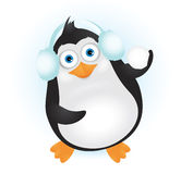 Cute penguin in headphones Royalty Free Stock Image