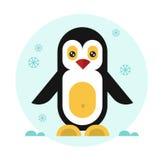 Cute penguin icon. Cute geometric penguin. Vector flat design stock illustration Stock Photos