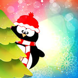 Cute penguin for Merry Christmas celebration. Stock Photography