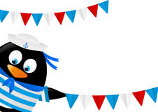 Cute penguin sailor Royalty Free Stock Images