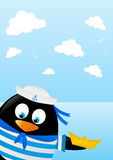 Cute penguin sailor Royalty Free Stock Photography