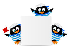 Cute penguin sailors Royalty Free Stock Photography